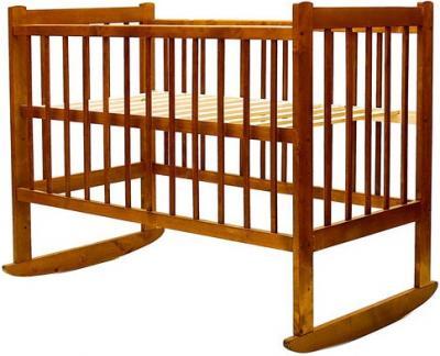 Детская кроватка Лескоммебель Лиза H8-6/2ек (Орех) - общий вид