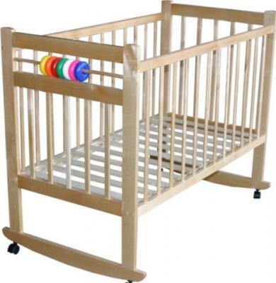 Детская кроватка Лескоммебель Лиза H8-6/2еи (Натуральный цвет) - общий вид
