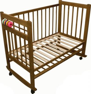 Детская кроватка Лескоммебель Лиза H8-6/2еи (Орех) - общий вид