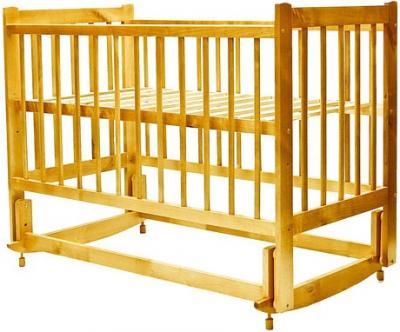 Детская кроватка Лескоммебель Лиза H8-6/2ем (Натуральный цвет) - общий вид