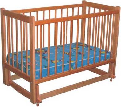 Детская кроватка Лескоммебель Лиза H8-6/2ем (Орех) - общий вид