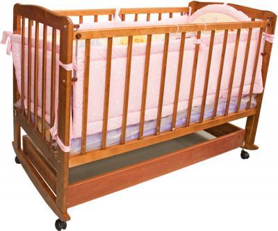 Детская кроватка Лескоммебель Лиза H8-6/3 (Натуральный цвет) - общий вид