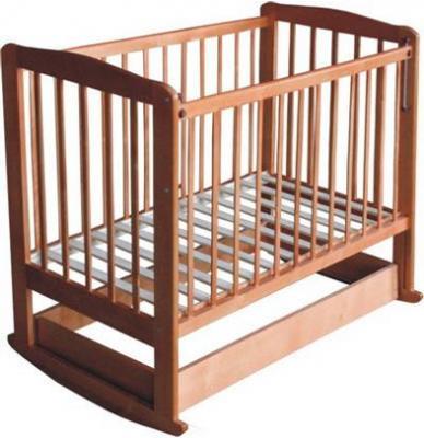Детская кроватка Лескоммебель Лиза H8-6/3 (Орех) - общий вид
