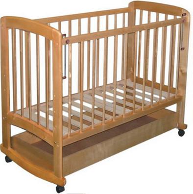 Детская кроватка Лескоммебель Лиза H8-6/3г (Натуральный цвет) - общий вид