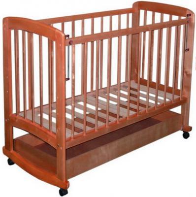 Детская кроватка Лескоммебель Лиза H8-6/3г (Орех) - общий вид