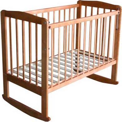 Детская кроватка Лескоммебель Лиза Н8-6/4 (Натуральный цвет) - общий вид