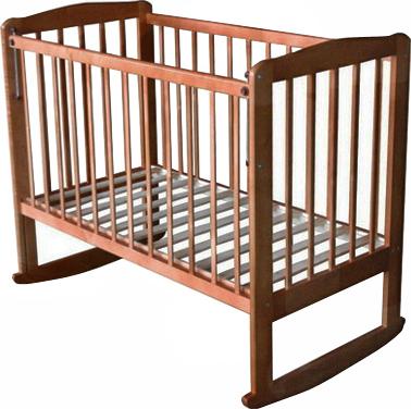 Детская кроватка Лескоммебель Лиза H8-6/4 (Орех) - общий вид