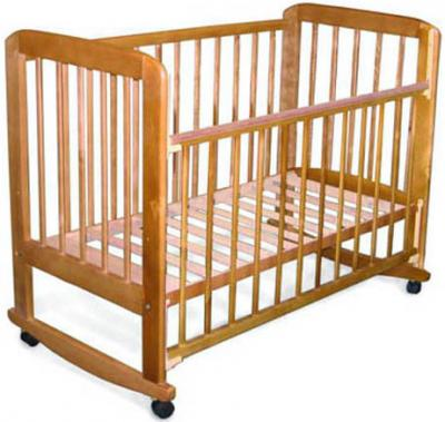 Детская кроватка Лескоммебель Лиза Н8-6/4аг (Натуральный цвет) - общий вид