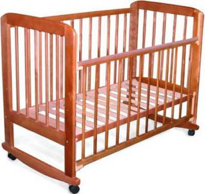 Детская кроватка Лескоммебель Лиза H8-6/4аг (Орех) - общий вид