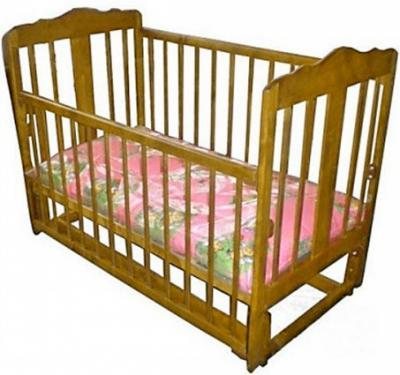 Детская кроватка Лескоммебель Лиза H8-6/4с (Натуральный цвет) - общий вид