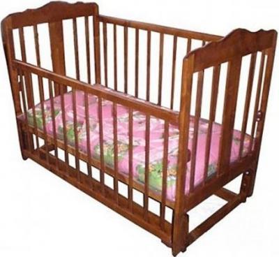 Детская кроватка Лескоммебель Лиза H8-6/4с (Орех) - общий вид