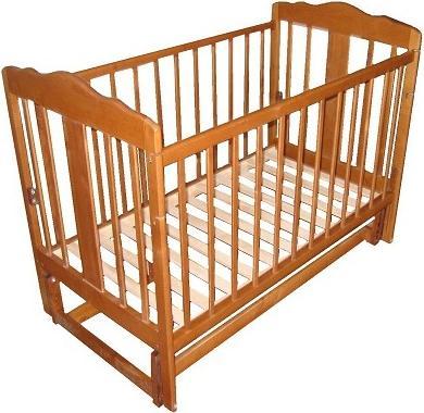 Детская кроватка Лескоммебель Лиза H8-6/4см (Натуральный цвет) - общий вид