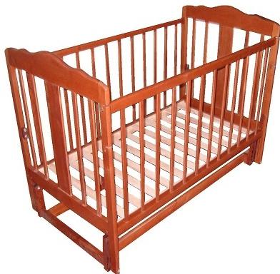 Детская кроватка Лескоммебель Лиза H8-6/4см (Орех) - общий вид