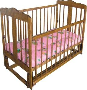 Детская кроватка Лескоммебель Лиза H8-6/4смя (Натуральный цвет) - общий вид
