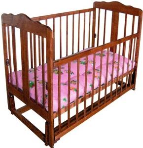 Детская кроватка Лескоммебель Лиза H8-6/4смя (Орех) - общий вид