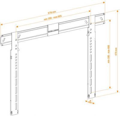 Кронштейн для телевизора Holder LEDS-7021 - схематическое изображение