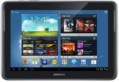 Планшет Samsung Galaxy Note 10.1 16GB 3G Pearl Gray (GT-N8000EAASER) - фронтальный вид
