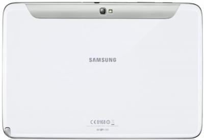 Планшет Samsung Galaxy Note 10.1 16GB 3G Pearl White (GT-N8000ZWASER) - вид сзади
