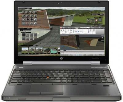 Ноутбук HP EliteBook 8570p (B6P98EA) - фронтальный вид