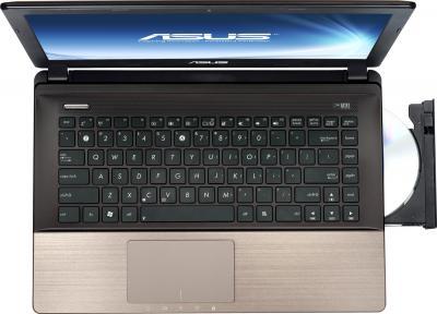 Ноутбук Asus K45VD-VX125D - вид сверху