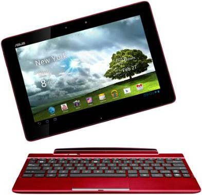 Планшет Asus Eee Pad Transformer TF300TG-1G065A 3G 32GB Doc Red  - общий вид