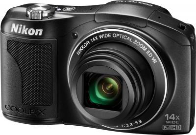 Компактный фотоаппарат Nikon COOLPIX L610 Black - общий вид