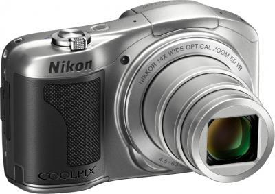 Компактный фотоаппарат Nikon COOLPIX L610 Silver - общий вид