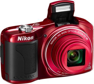 Компактный фотоаппарат Nikon COOLPIX L610 Red - общий вид