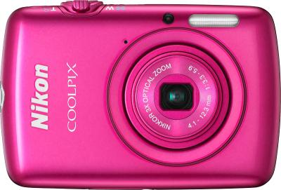 Компактный фотоаппарат Nikon Coolpix S01 Pink - вид спереди