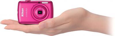 Компактный фотоаппарат Nikon Coolpix S01 Pink - общий вид