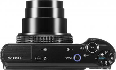 Компактный фотоаппарат Samsung WB850F (EC-WB850FBPBRU) Black - вид сверху