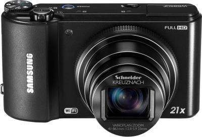 Компактный фотоаппарат Samsung WB850F (EC-WB850FBPBRU) Black - вид спереди