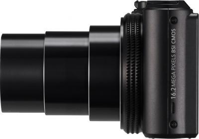 Компактный фотоаппарат Samsung WB850F (EC-WB850FBPBRU) Black - боковой вид