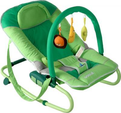 Детский шезлонг Caretero Astral (зеленый) - общий вид