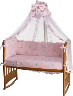 Комплект в кроватку Perina Роза Р7-01.3 (Зайки розовый) - общий вид