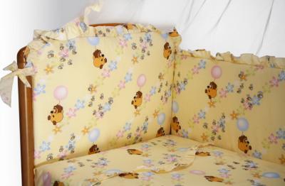 Комплект в кроватку Perina Роза Р6-02.2 (Винни бежевый) - общий вид