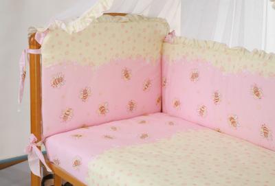 Комплект в кроватку Perina София С7-03.3 (Пчелки) - общий вид