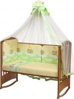 Комплект в кроватку Perina Аманда А7-02.1 (Ночка салатовый) -