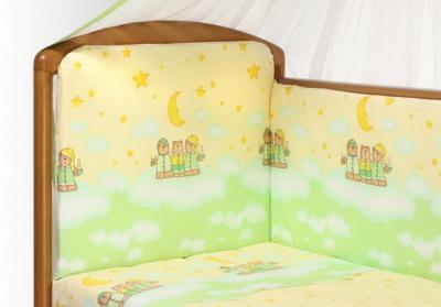 Комплект в кроватку Perina Аманда А6-02.1 (Ночка салатовый) - общий вид