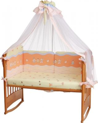 Комплект в кроватку Perina Аманда А6-03.2 (Малыши персиковый) - балдахин в комплект не входит
