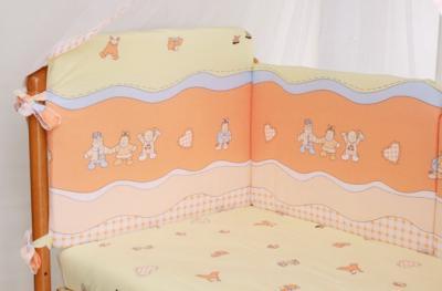 Комплект в кроватку Perina Аманда А6-03.2 (Малыши персиковый) - общий вид
