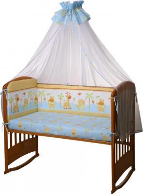 Комплект в кроватку Perina Ева Е6-03.4 (Бегемотики голубой) - балдахин в комплект не входит