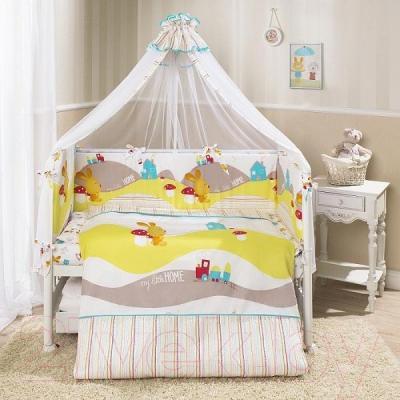 Комплект в кроватку Perina Кроха К7-02.0 (Веселый кролик)