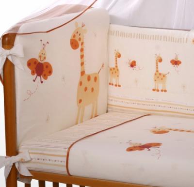 Комплект в кроватку Perina Кроха К6-01.2 (Жирафики) - общий вид