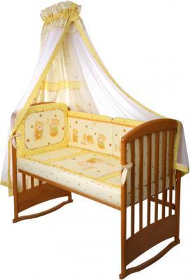 Комплект в кроватку Perina Ника Н6-01.2 (Мишка на подушке желтый) - балдахин в комплект не входит