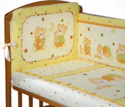 Комплект в кроватку Perina Ника Н6-01.2 (Мишка на подушке желтый) - общий вид