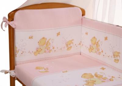 Комплект в кроватку Perina ФЕЯ Ф7-01.3 (Лето розовый) - общий вид