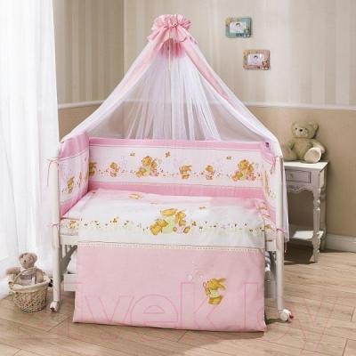 Комплект в кроватку Perina ФЕЯ Ф7-01.3 (Лето розовый)