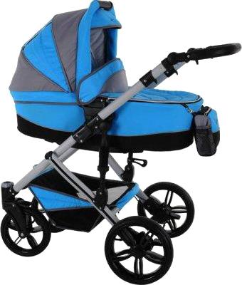 Детская универсальная коляска Bebetto Solaris (D1L/ALU) - общий вид