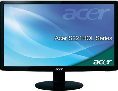 Монитор Acer S221HQLDBD(ET.WS1HE.D02) - фронтальный вид